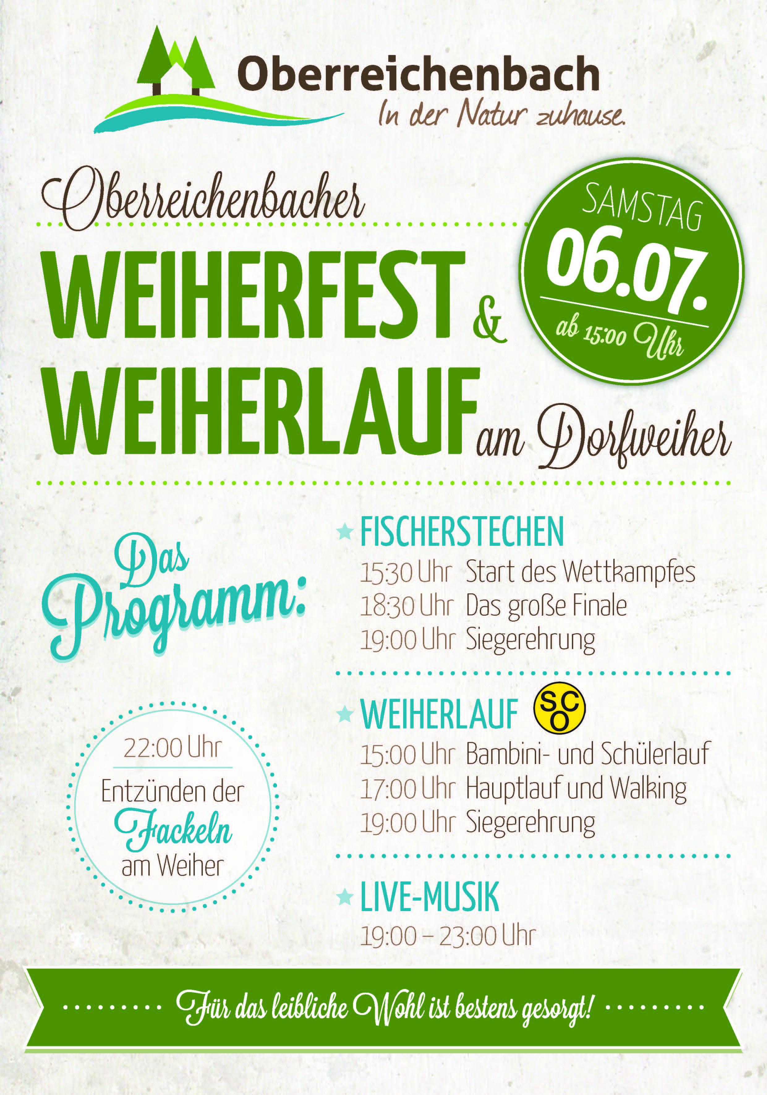 Flyer Weiherfest 2019
