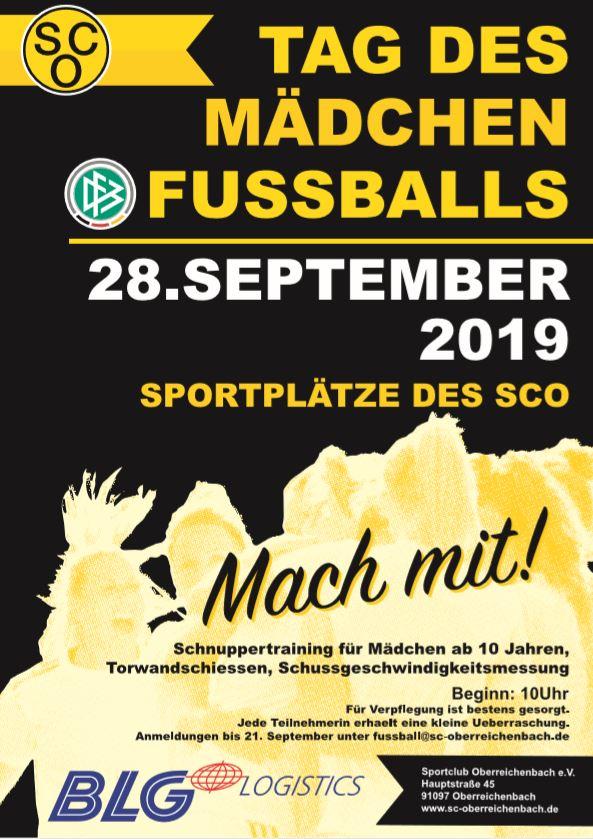 Tag des Mädchenfussballs am 28. September 2019